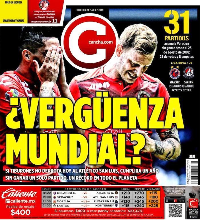 portadas de deportes 23 de agosto