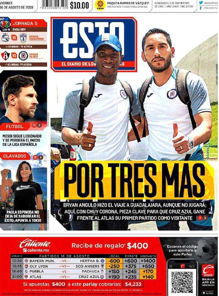 portadas de deportes 16 de agosto