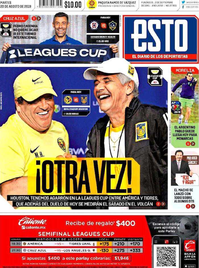 portadas de deportes 20 de agosto