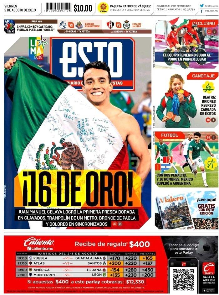 portadas de deportes 2 de agosto