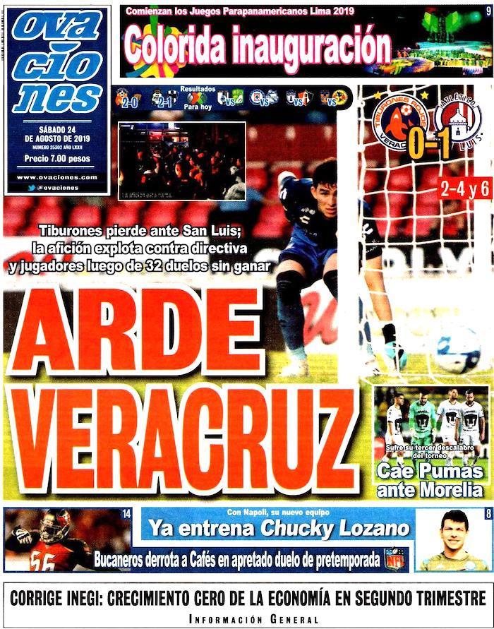 portadas de deportes 24 de agosto