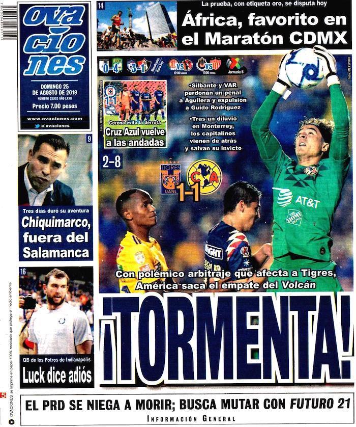 portadas de deportes 25 de agosto