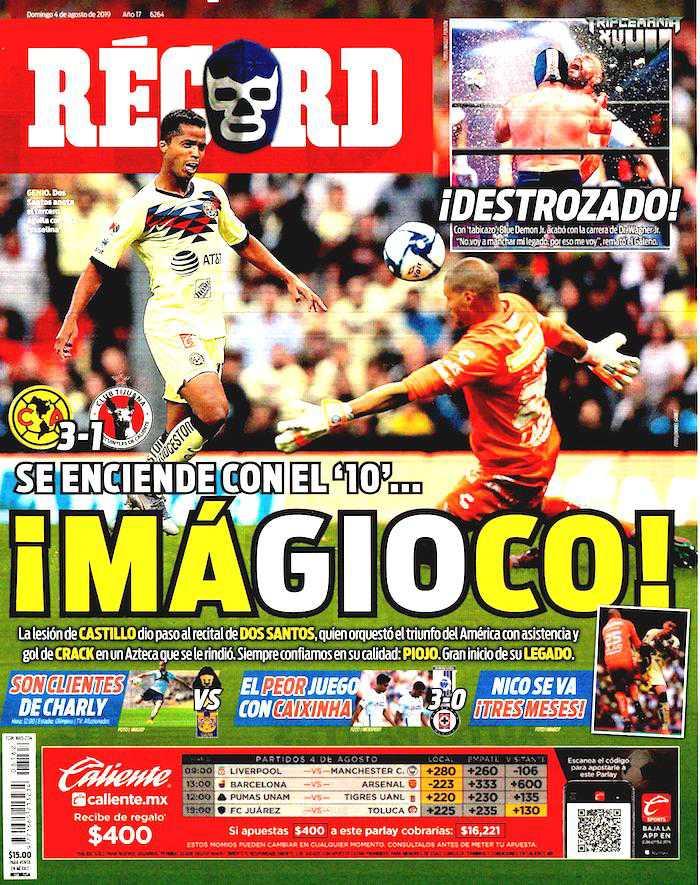 portada de deportes 4 de agosto