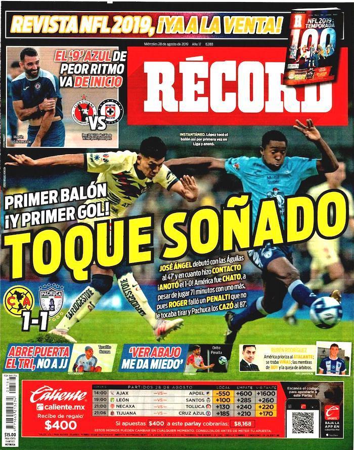 portadas de deportes 28 de agosto