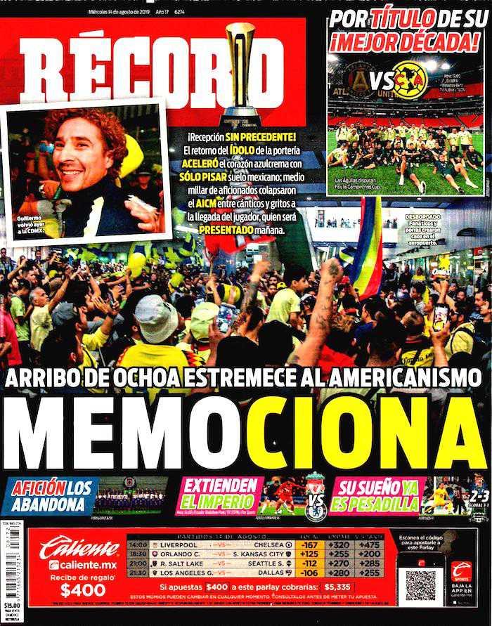 portadas de deportes 14 de agosto