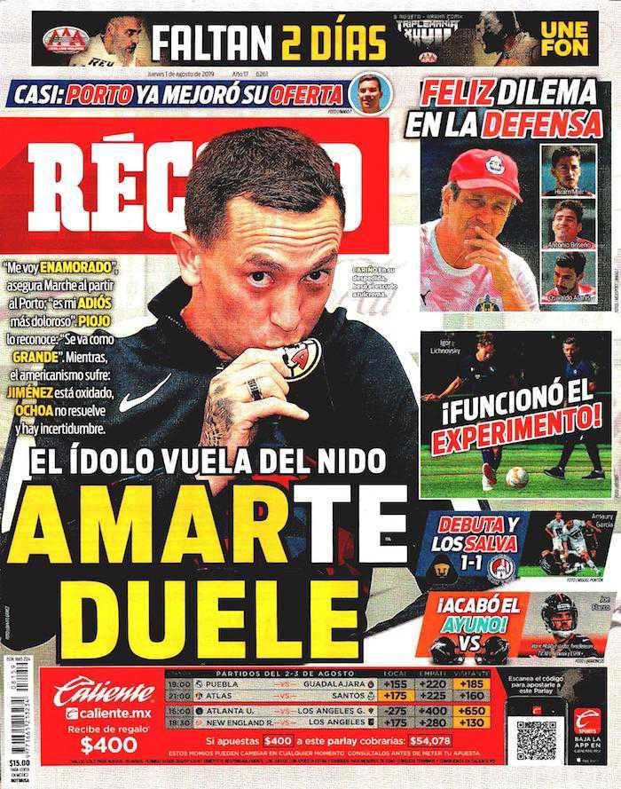 portadas de deportes 1 de agosto