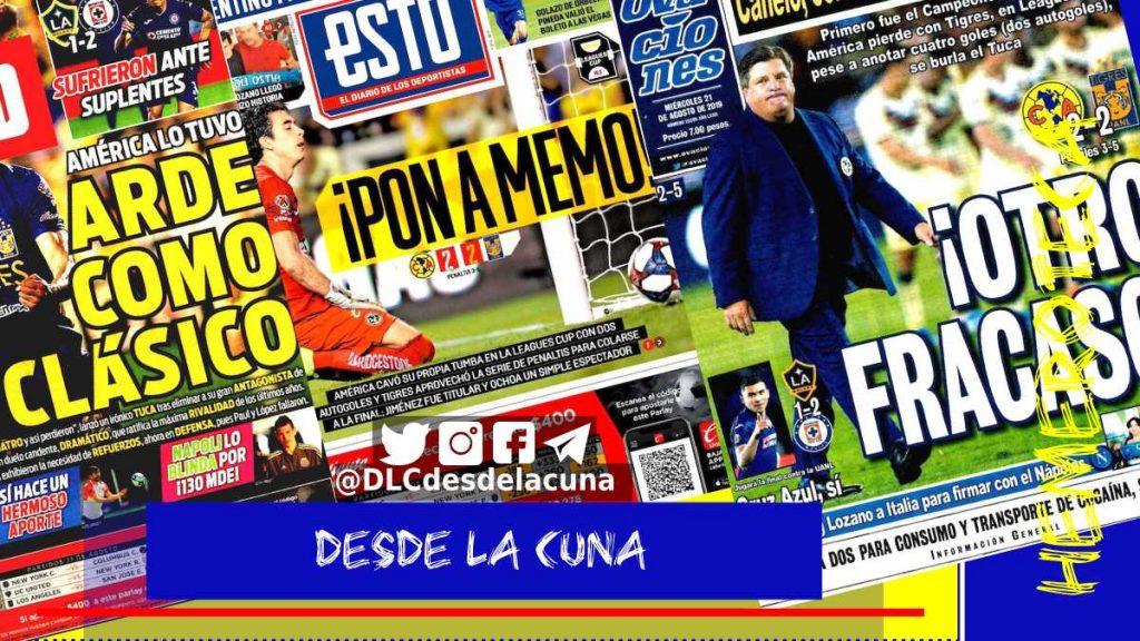 portadas de deportes 21 de agosto