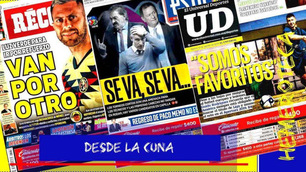 portadas de deportes 13 de agosto