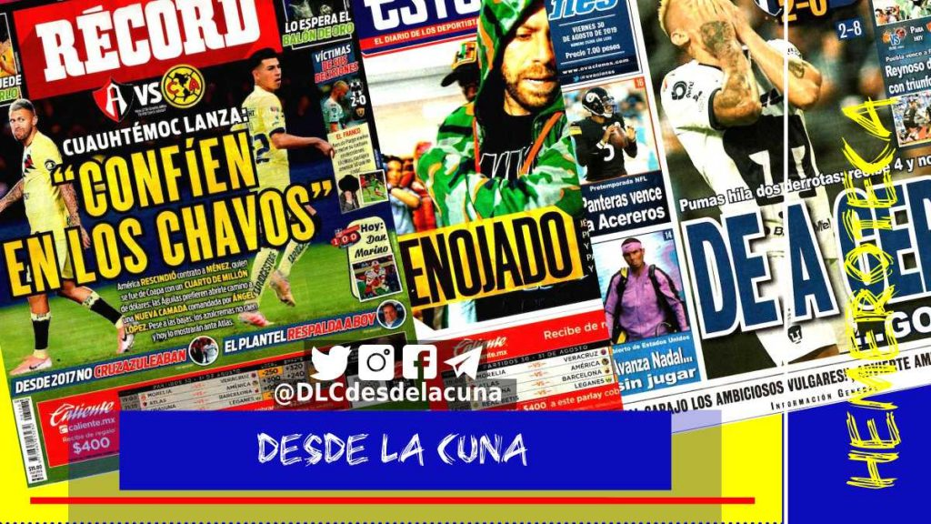 portadas de deportes 30 de agosto