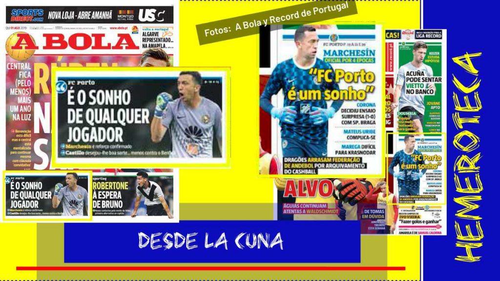 prensa portuguesa sobre Marchesín