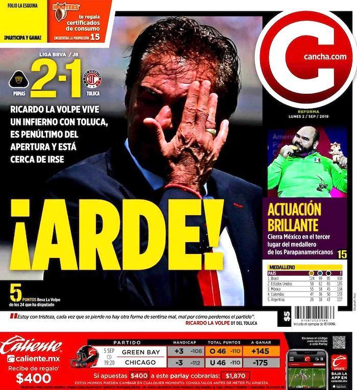 portadas de deportes 2 de septiembre