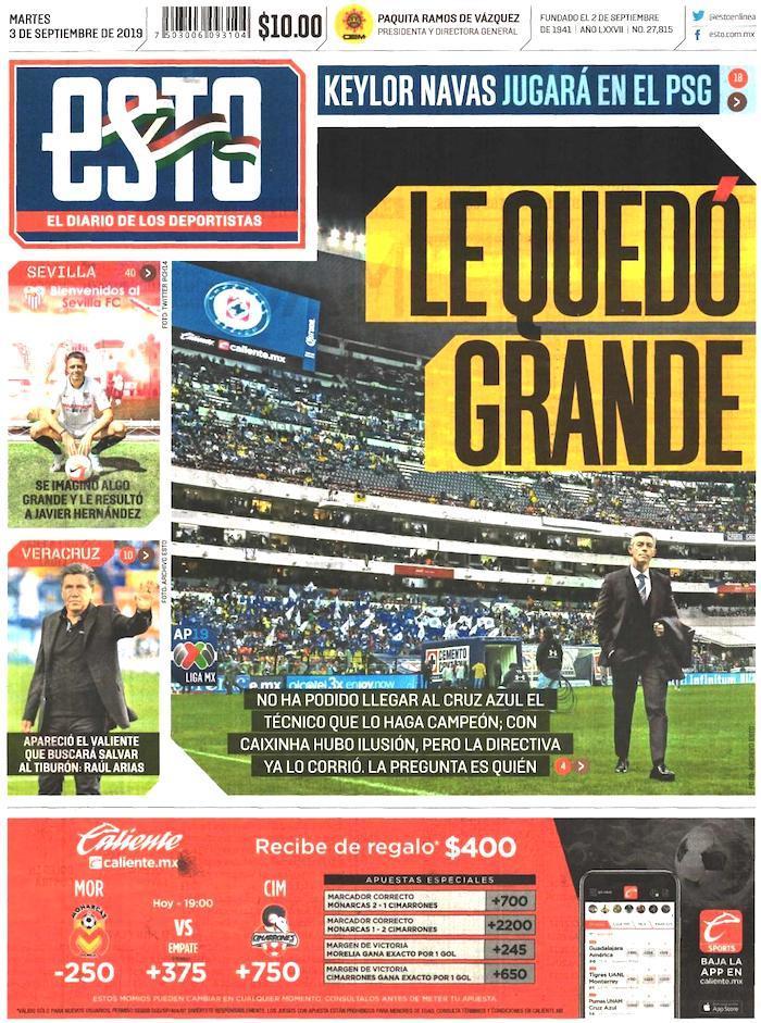 portadas de deportes 3 de septiembre