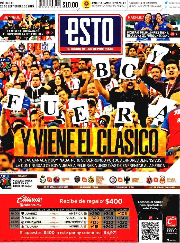 portadas de deportes 25 de septiembre