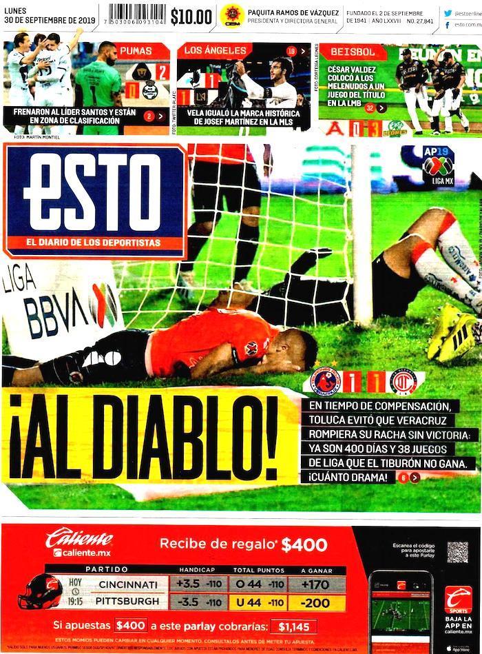 portadas de deportes 30 de septiembre