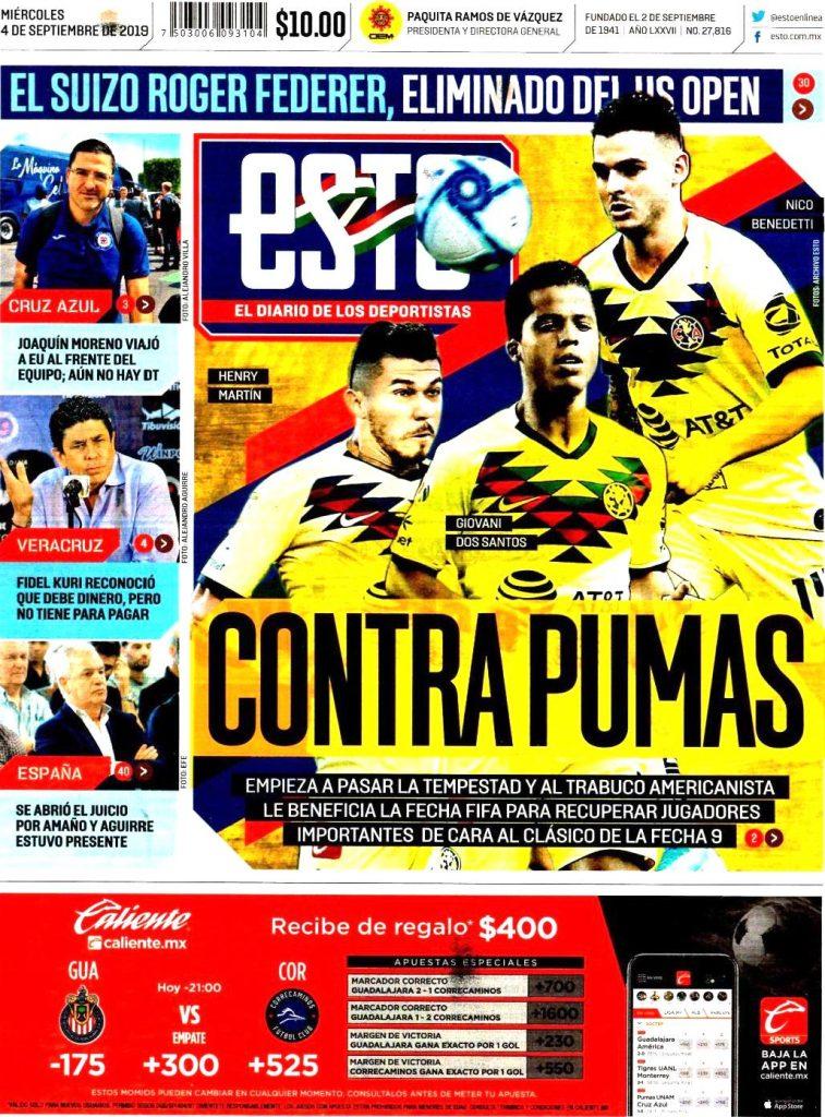 portadas de deportes 4 de septiembre