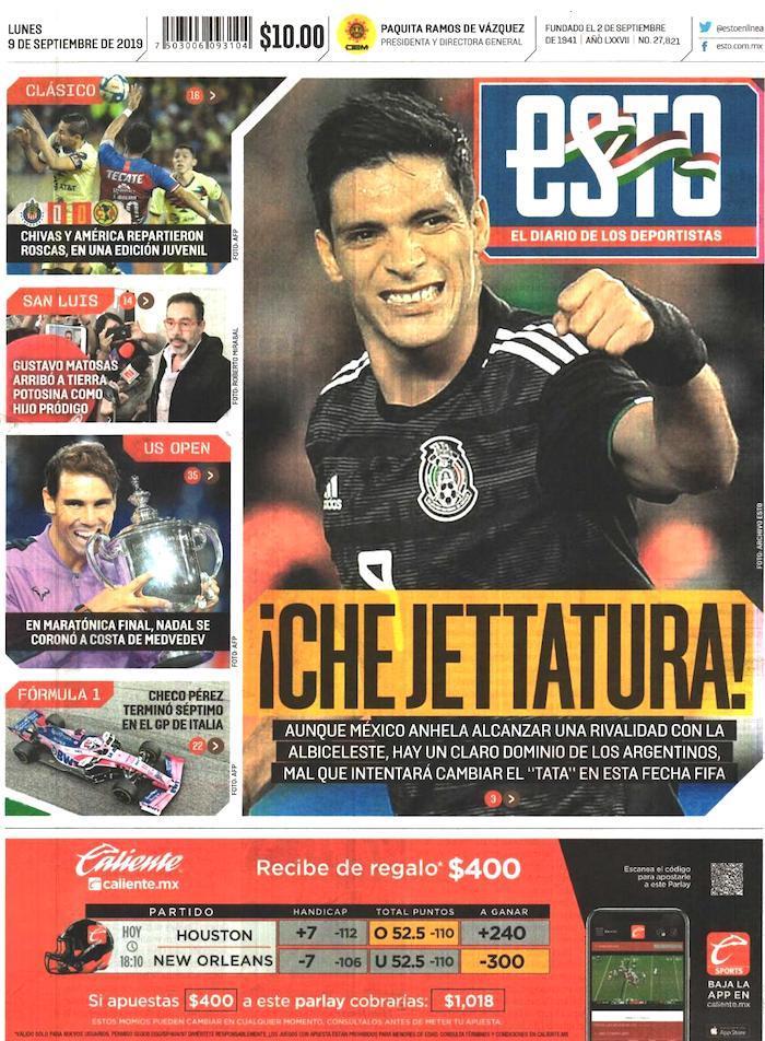 portadas de deportes 9 de septiembre