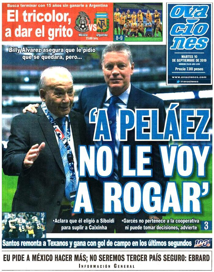portada de deportes 10 de septiembre