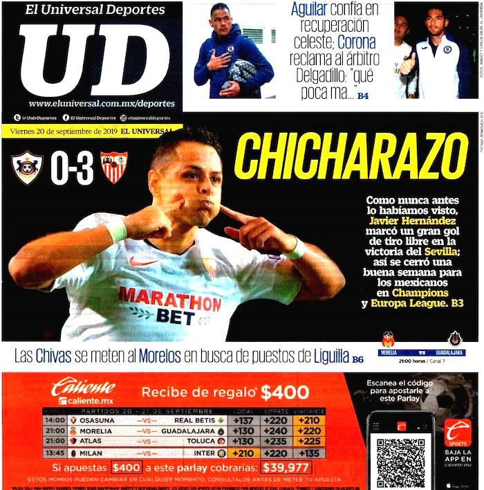 portadas de deportes 18 de septiembre