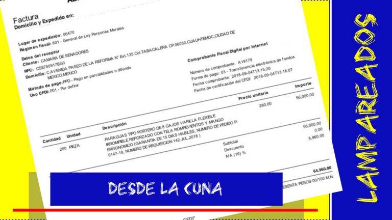 Diputados y senadores gastan en paraguas de hasta 388 pesos cada uno