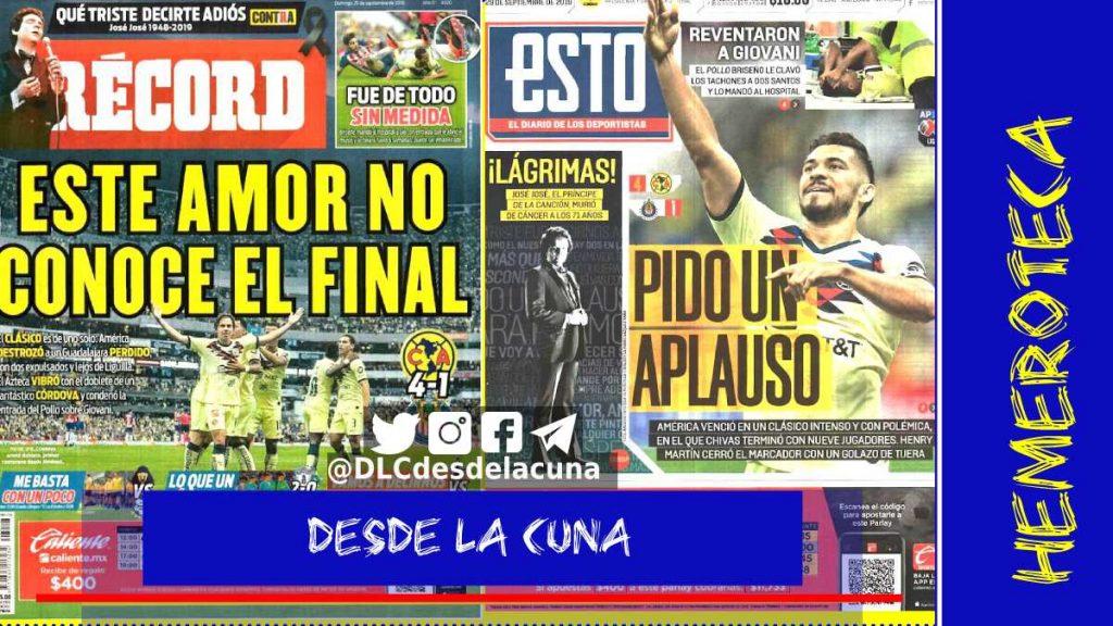 portadas de deportes 29 de septiembre