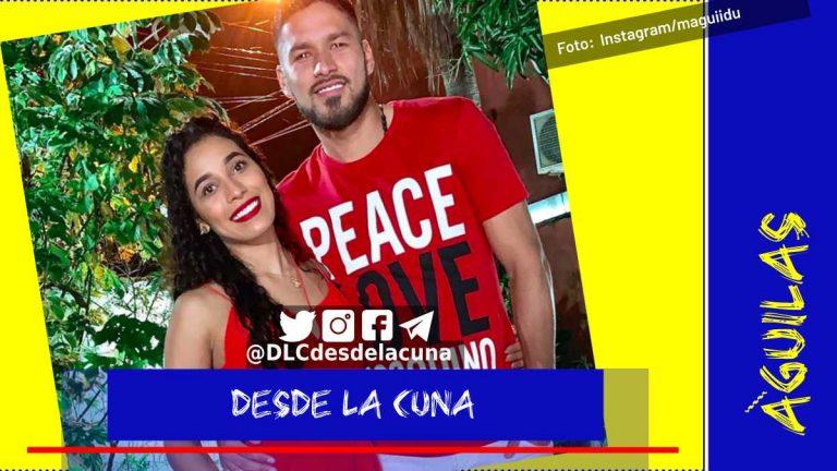 Ella es Magui Duarte, esposa de Bruno Valdez