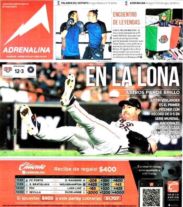 portadas de deportes 24 de octubre