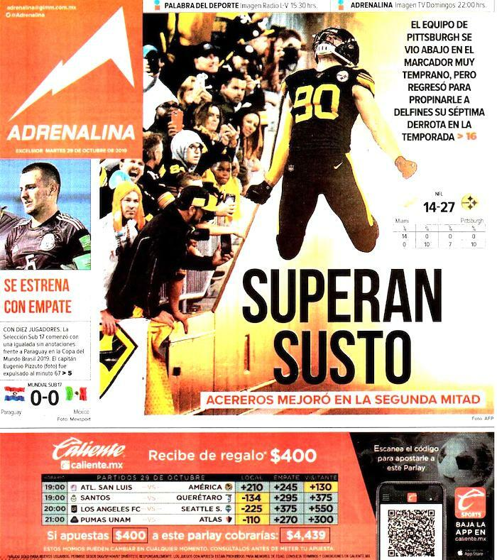 portadas de deportes 29 de octubre