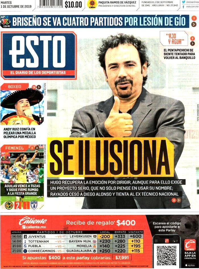 portada de deportes 1 de octubre
