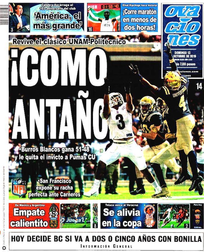 portadas de deportes 13 de octubre