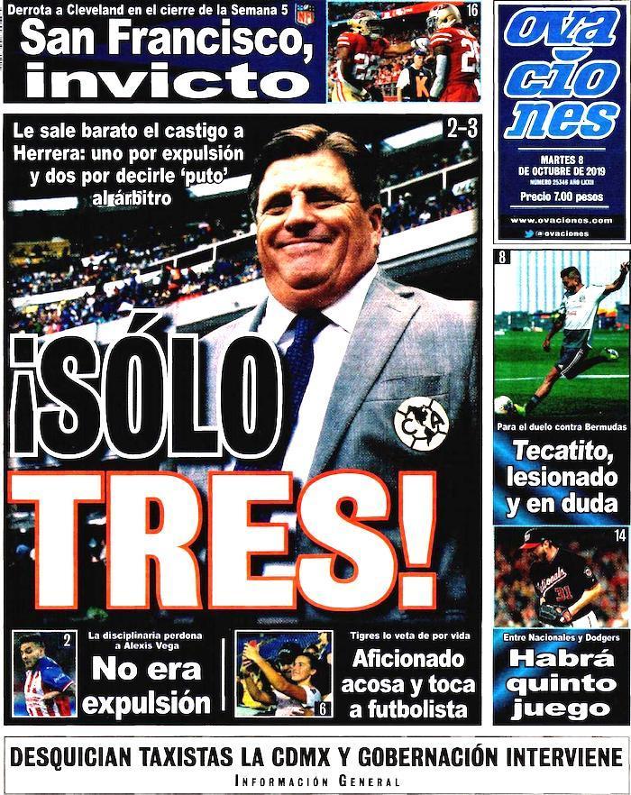 portadas de deportes 8 de octubre