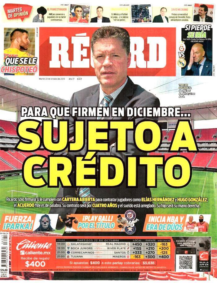 portadas de deportes 22 de octubre