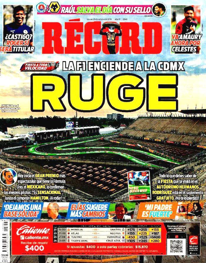 portadas de deportes 25 de octubre