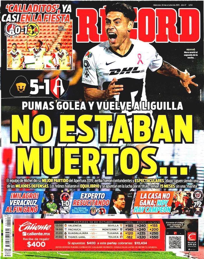 portadas de deportes 30 de octubre