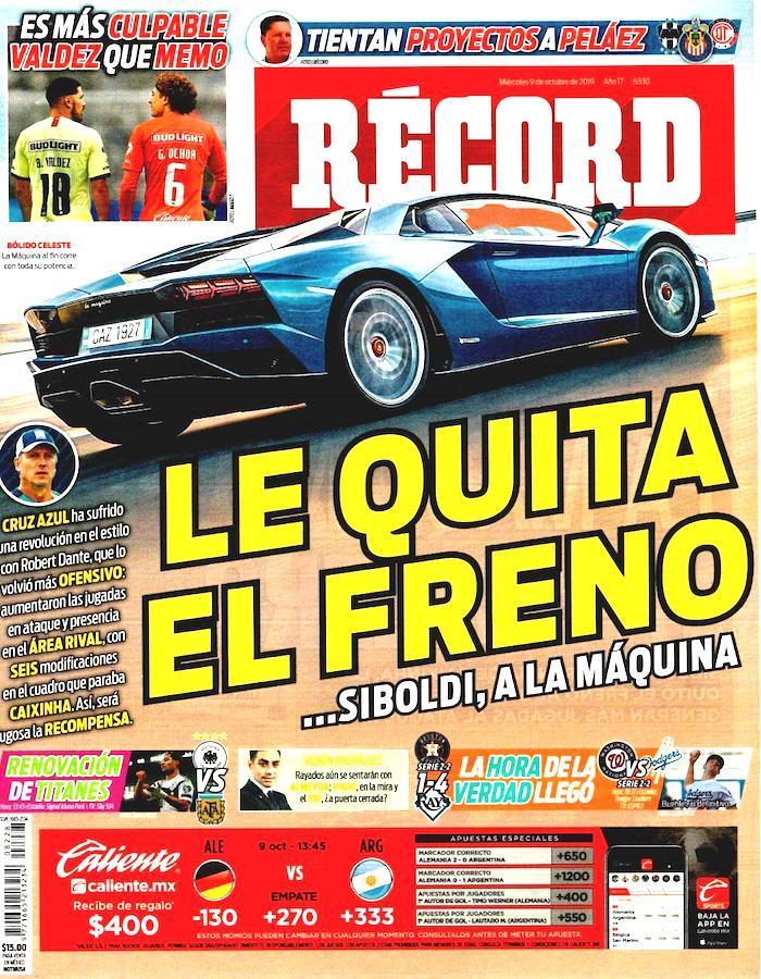 portadas de deportes 9 de octubre