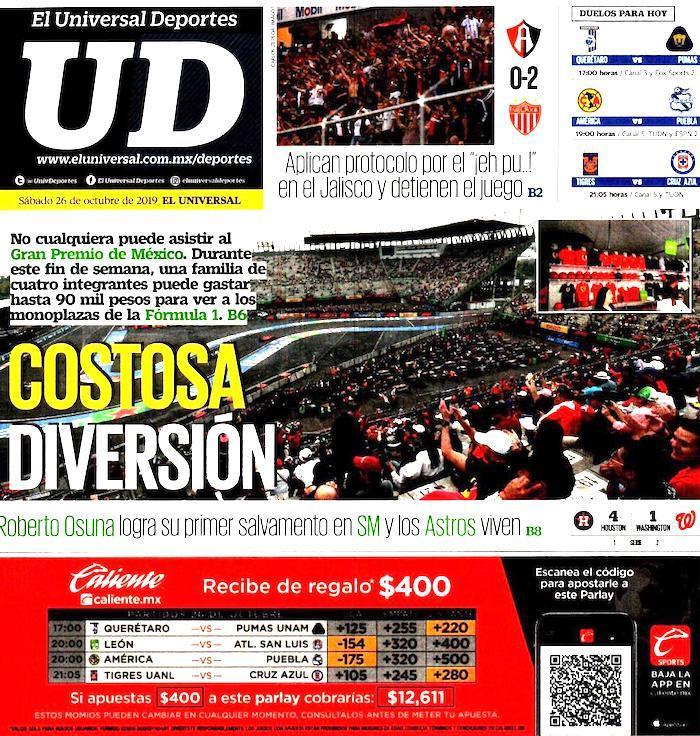 portadas de deportes 26 de octubre