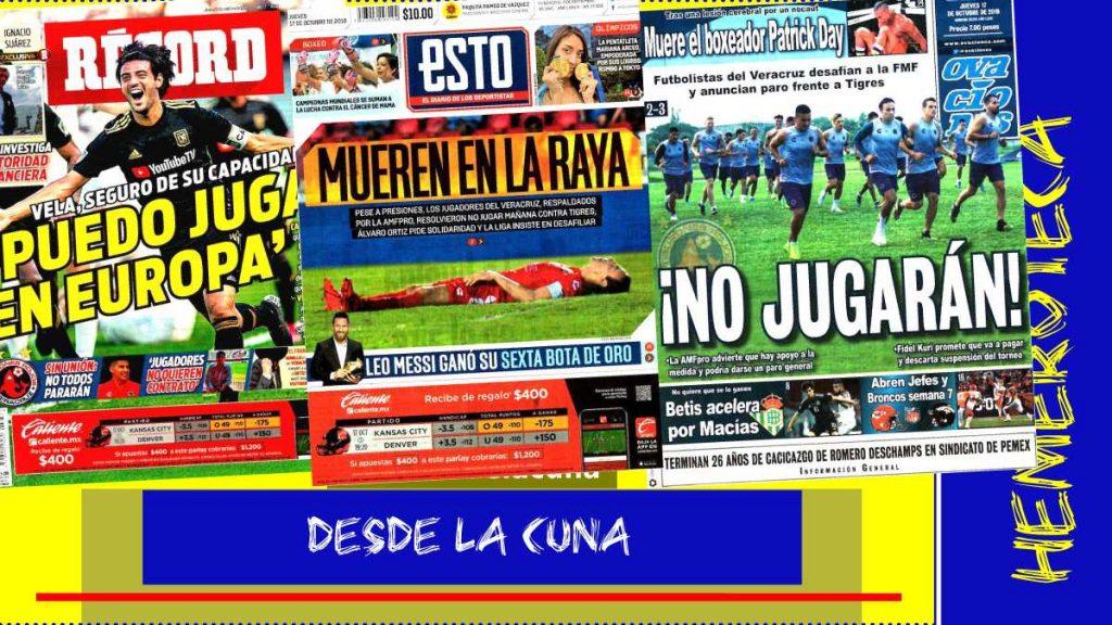 portadas de deportes 17 de octubre