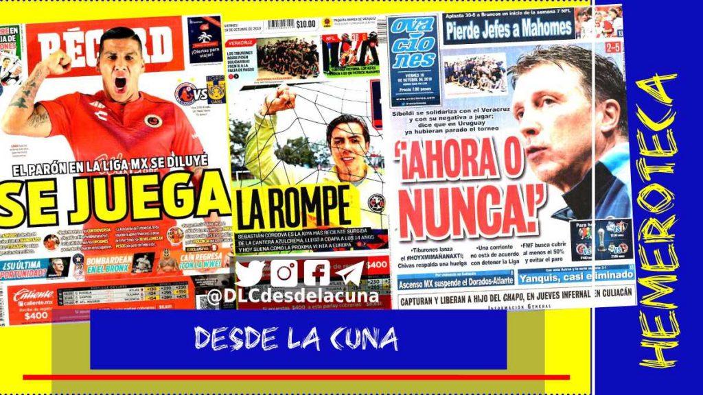 portadas de deportes 18 de octubre