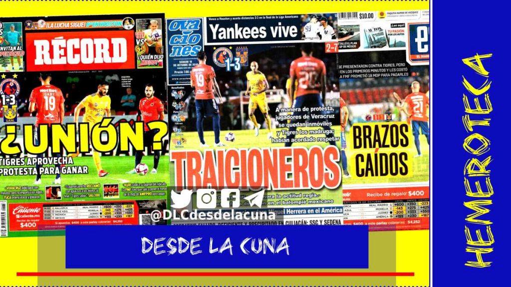 portadas de deportes 19 de octubre