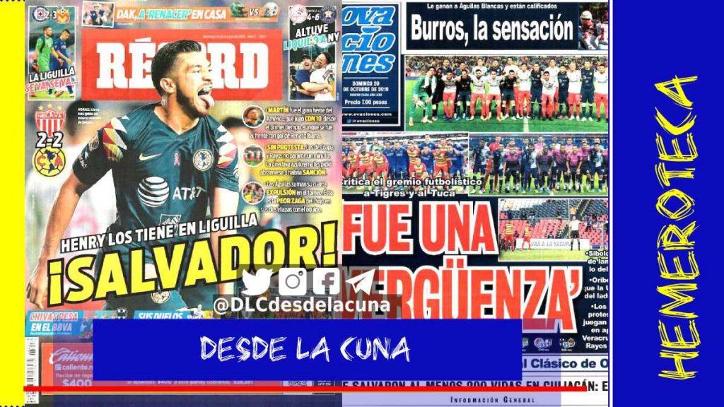portadas de deportes 20 de octubre