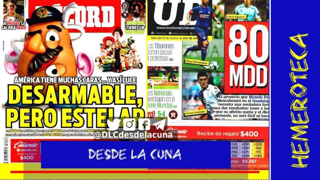 portadas de deportes 23 de octubre