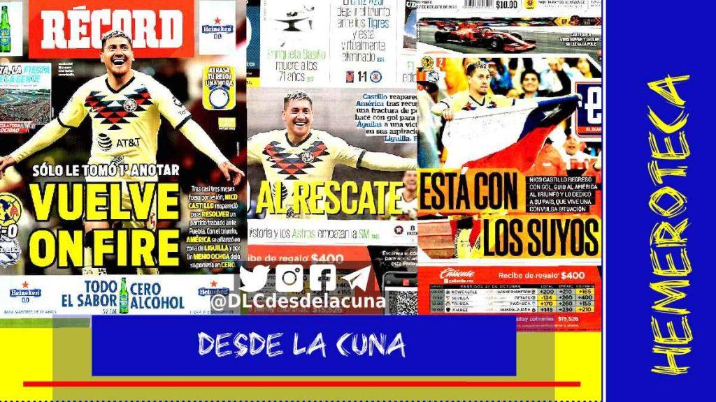 portadas de deportes 27 de octubre