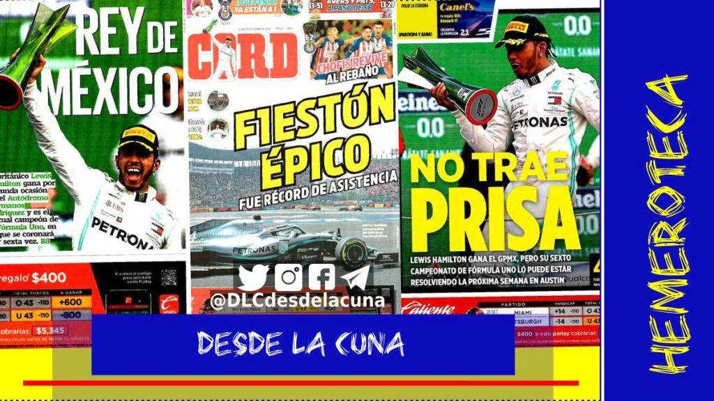 portadas de deportes 28 de octubre