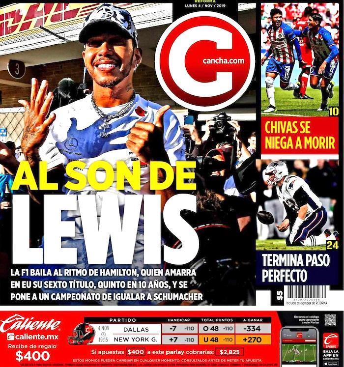 portadas de deportes hoy 4 de noviembre