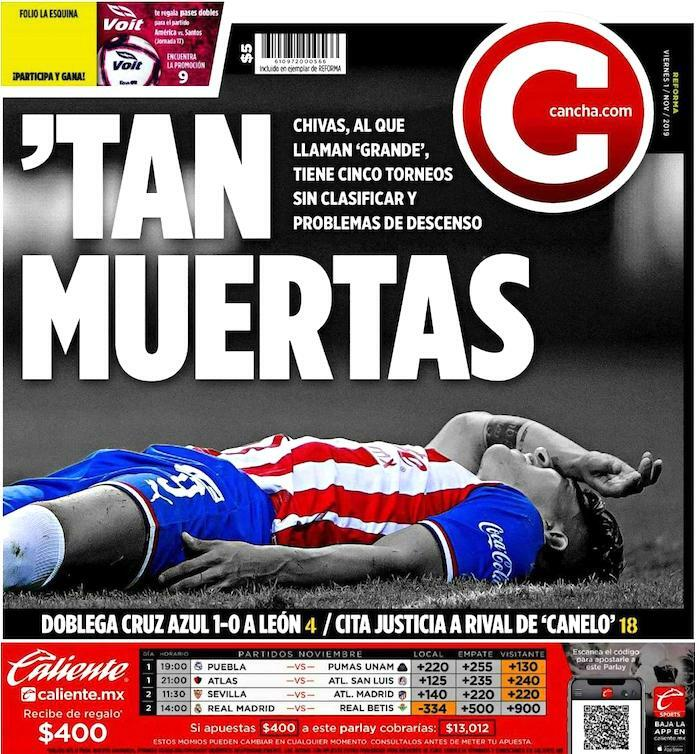 portadas de deportes 1 de noviembre