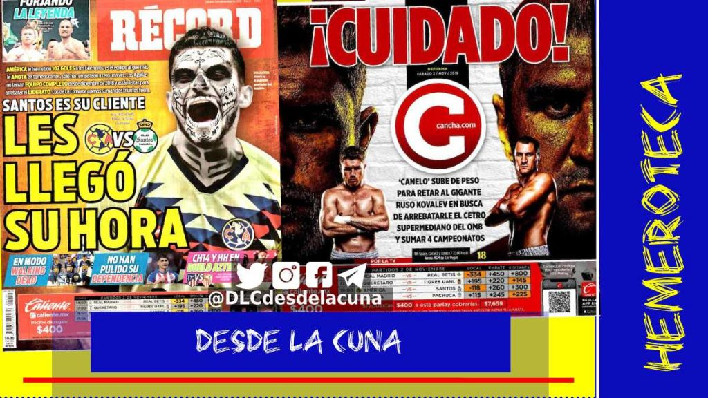 portadas de deportes 2 de noviembre