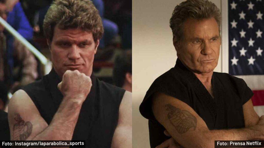 sensei John Kreese antes y después