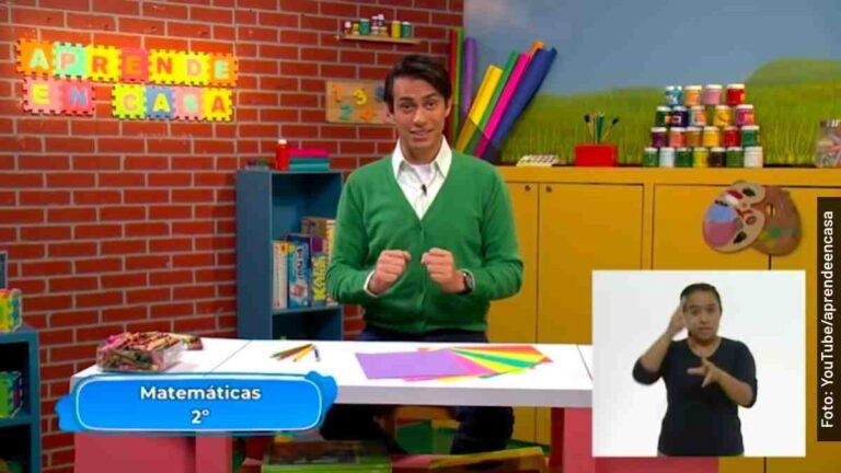 Clases de matemáticas de segundo de primaria, Aprende en Casa 2