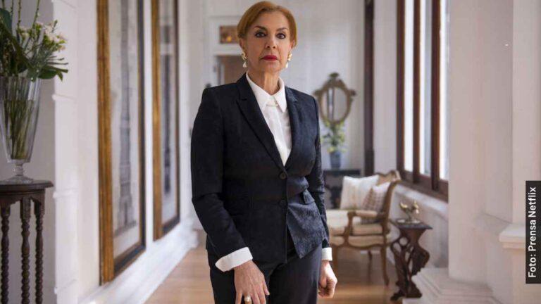 Ella es Rosa María Bianchi, doña Cecilia en Monarca, serie de Netflix