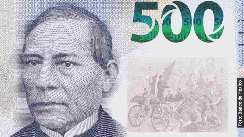 cambio billete de 500 pesos