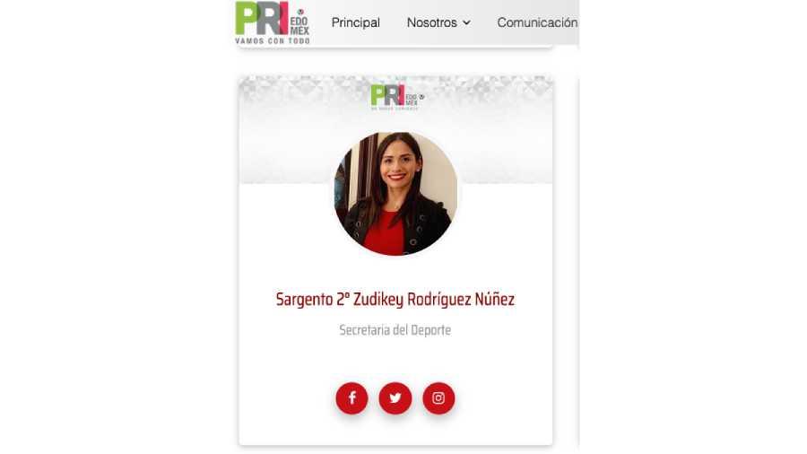 zudikey rodríguez en el PRI